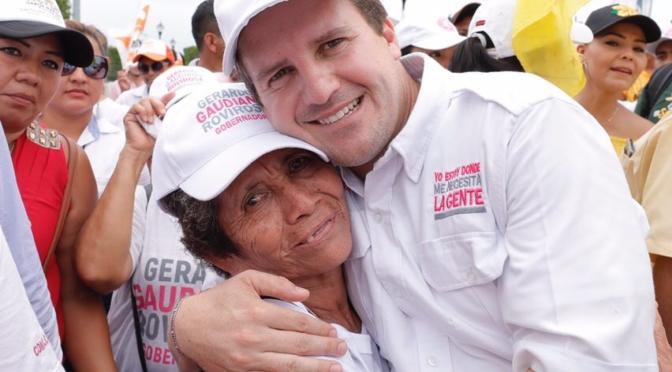 Estoy donde me necesita la gente, así estaré también como gobernador: Gerardo Gaudiano