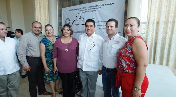 Atacaremos la inseguridad desde la raíz, afirma ante abogados Gerardo Gaudiano