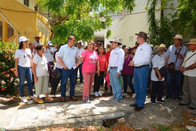 Anuncia Evaristo Hernández proyecto para acabar inundaciones en Centro