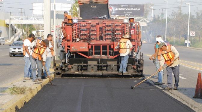 Avanza Centro con reconstrucción de 55 mil metros cuadrados en avenidas principales
