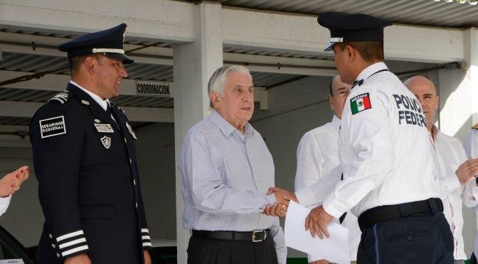 Valora el Gobernador aporte  de Policía Federal a Tabasco