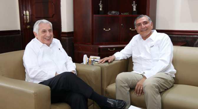 Acuerdan Adán Augusto y Arturo Núñez proceso de transición ordenado