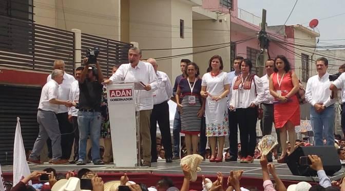 Nunca más Tabasco será un estado olvidado: Adán Augusto
