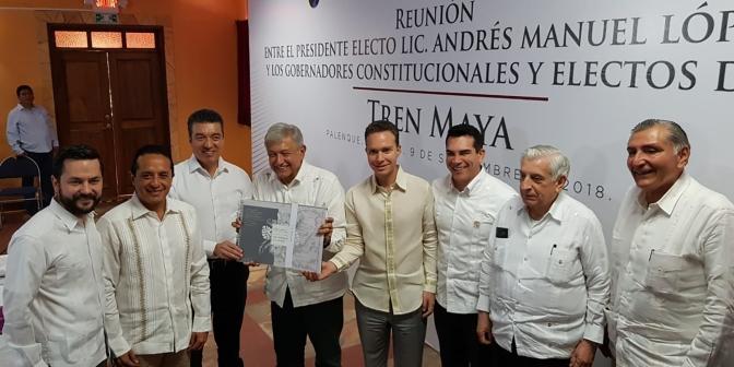 Respalda gobernador de Campeche, Alejandro Moreno Cárdenas, construcción de Tren Maya