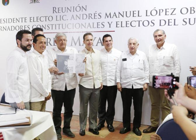 Participa Núñez en reunión sobre Tren Maya, encabezada por el Presidente electo