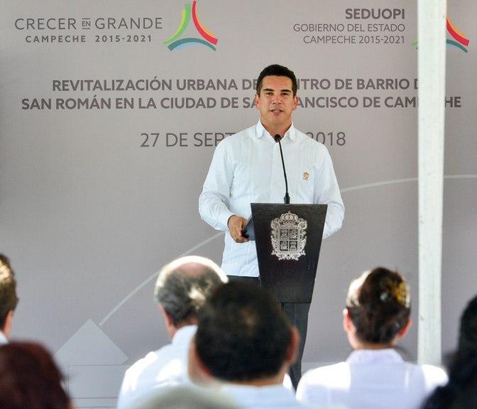 Anuncia gobernador de Campeche 100 mdp para revitalizar el Centro del Barrio de San Román