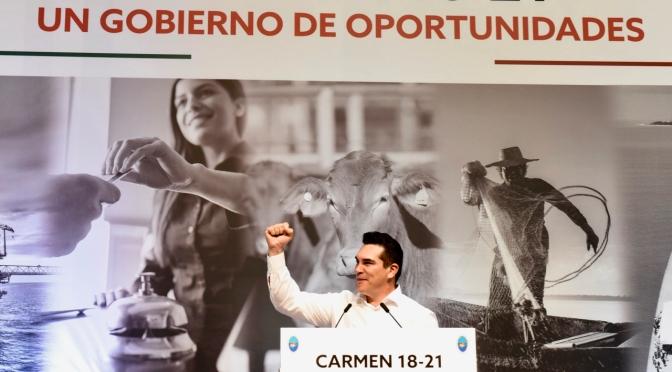 Inicia un nuevo capítulo en la vida política, económica  y social de El Carmen: Gobernador Alejandro Moreno Cárdenas