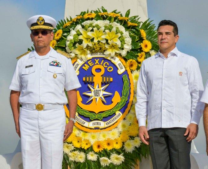 Preside gobernador de Campeche ceremonia para honrar a héroes del 21 de abril de 1914