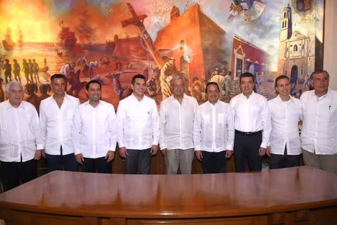 Evalúan Presidente Electo y gobernadores del Sur Sureste avances del Proyecto Tren Maya