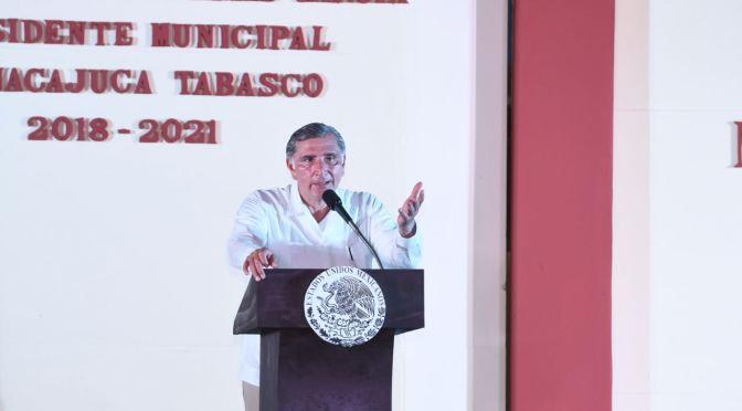 Garantiza Adán Augusto obra pública e inversión para todos los municipios