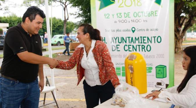 Instalan Centro de Acopio del 5º Reciclatón de Pilas 2018