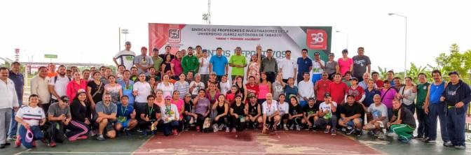 Gran participación de los académicos en los festejos deportivos del 38 aniversario del SPIUJAT.