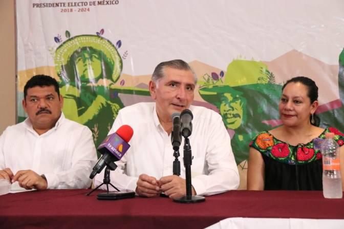 Respalda Adán Augusto programas de bienestar para Tabasco