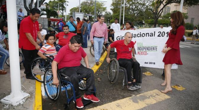Participa Evaristo Hernández en 1ª Rodada por la Discapacidad