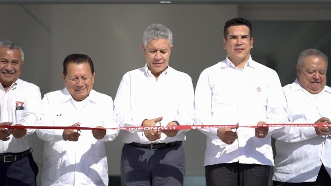 El gobernador Alejandro Moreno Cárdemas y el director del INFONAVIT inauguran moderno edificio de la delegación en Campeche