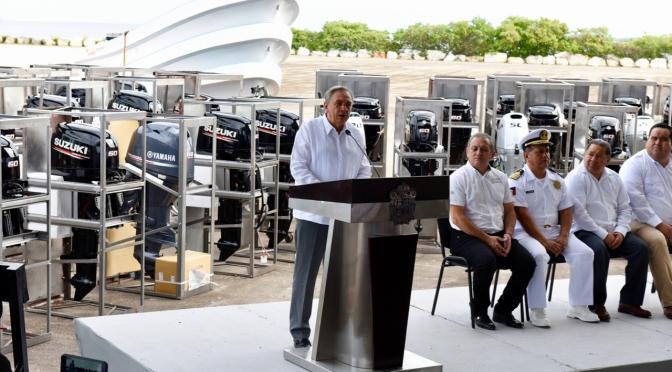 Entrega gobierno de Campeche más de 19 millones de pesos en equipo al sector pesquero
