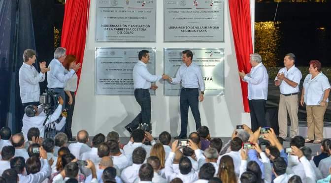 Inauguran obras por más de 345 mdp en Campeche