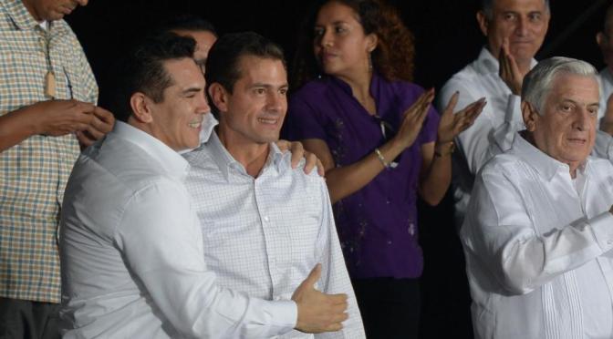 Reconoce el gobernador Alejandro Moreno Cárdenas amplio respaldo del Presidente Peña Nieto para la transformación de Campeche