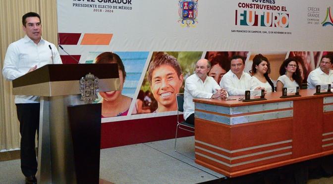 En Campeche, Jóvenes Construyendo el futuro entregará 56 mil becas