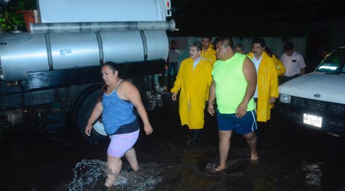 Supervisa el alcalde Evaristo Hernández  zonas afectadas por lluvias
