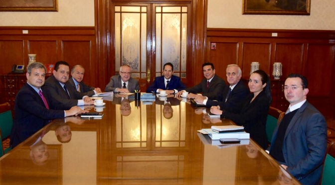Encabeza gobernador de Campeche, Alejandro Moreno Cárdenas, gestiones ante el Secretario de Hacienda