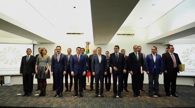 Preside el gobernador Alejandro Moreno Cárdenas reunión de Conago con secretario de Seguridad del gobierno de México