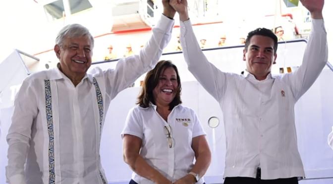 Ratifica el gobernador Alejandro Cárdenas Moreno ante el Presidente AMLO respaldo total y trabajo coordinado para bienestar de las familias