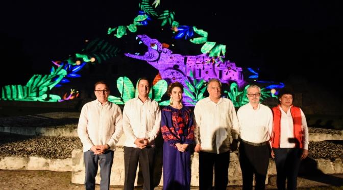 """Inauguran espectáculo nocturno """"Edná, Espejo de los Dioses,"""" en Campeche"""