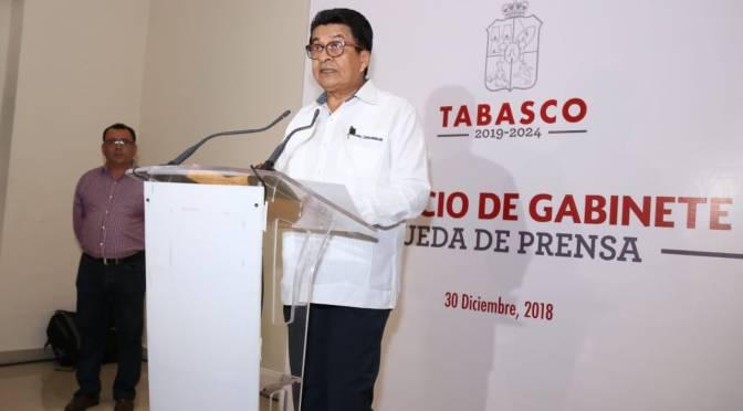 Gabinete del gobernador Adán Augusto López Hernández para el período 2019-2024