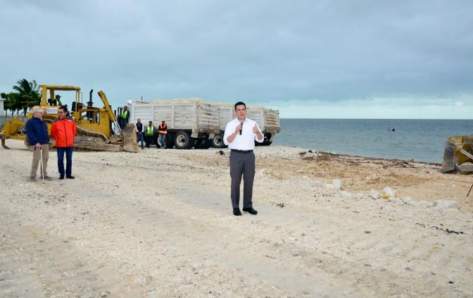 gobernador de Campeche, Alejandro Moreno Cárdenas, da BANDERAZO de inicio a obras de ampliación y modernización del Malecón