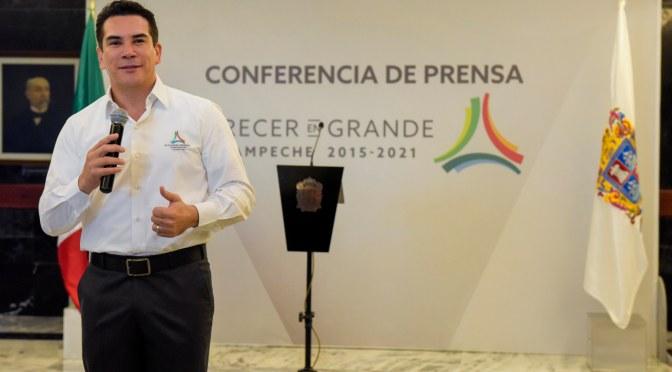 Confirma gobernador Alejandro Moreno Cárdenas próxima visita del Presidente a Campeche