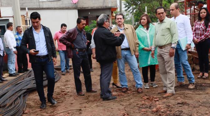 Supervisa Evaristo Hernández avances en obras