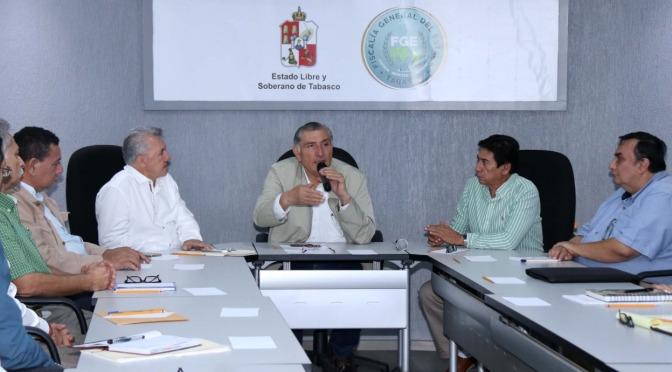 Tabasco recuperará la tranquilidad con el decidido apoyo de la FGE: Adán