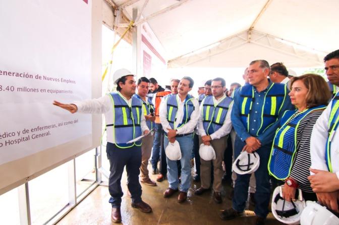 Supervisa López Hernández avance de construcción del nuevo hospital del ISSSTE