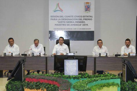 sesión del comité cívico estatal para designación del premio justo sierra (1)
