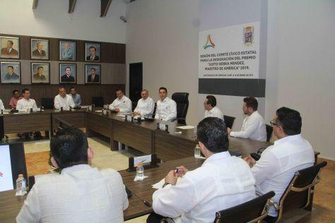 sesión del comité cívico estatal para designación del premio justo sierra (13)