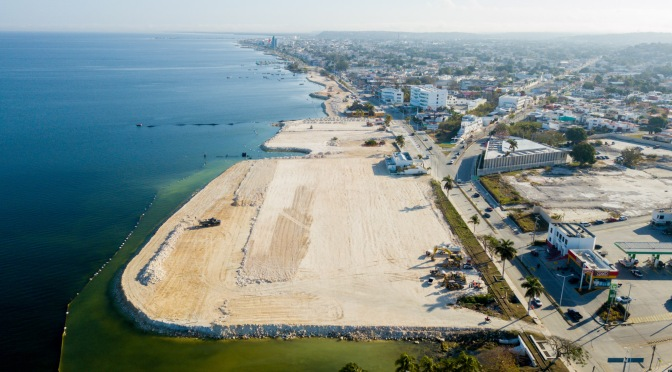 Avanzan obras de ampliación del Malecón de Campeche