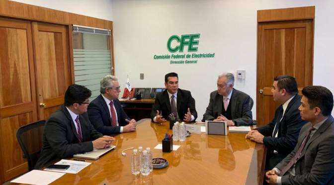 El gobernador de Campeche y el director de CFE evalúan proyectos del Sector Energético