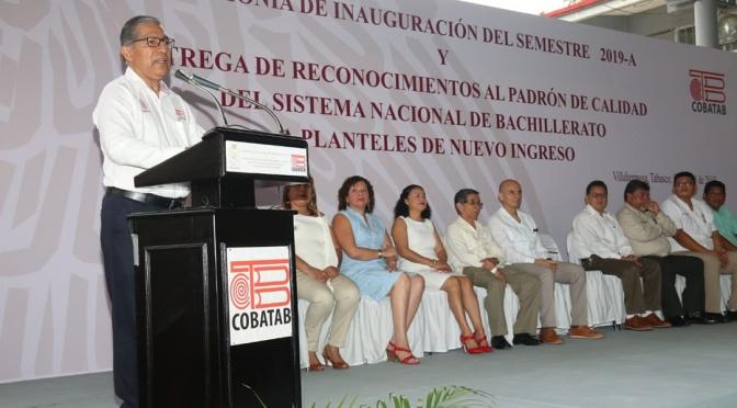 Inauguran semestre 2019-A  del Colegio de Bachilleres de Tabasco