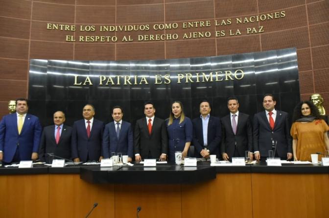 El Presidente de la CONAGO y gobernador de Campeche, Alejandro Moreno Cárdenas, urge reconstruir acuerdo para crear Guardia Nacional