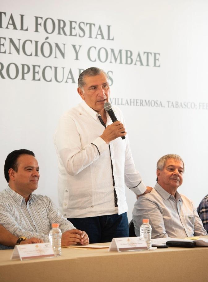 Anuncia Adán Augusto relanzamiento del sector forestal