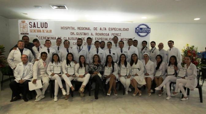 Profesionaliza Hospital Rovirosa a 28 médicos especialistas