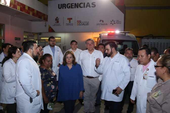 """Supervisa Adán Augusto servicio del Hospital """"Gustavo A. Rovirosa"""""""