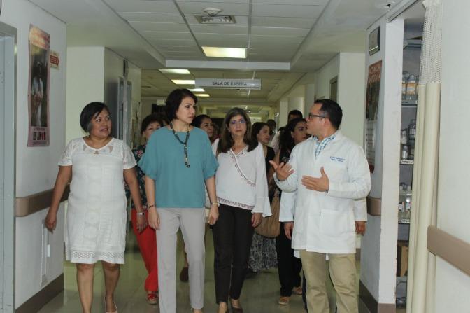 Visita presidenta del DIF Tabasco hospitales de alta especialidad