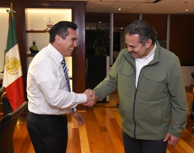Sostienen gobernador de Campeche y director general de Pemex reunión de trabajo en CDMX