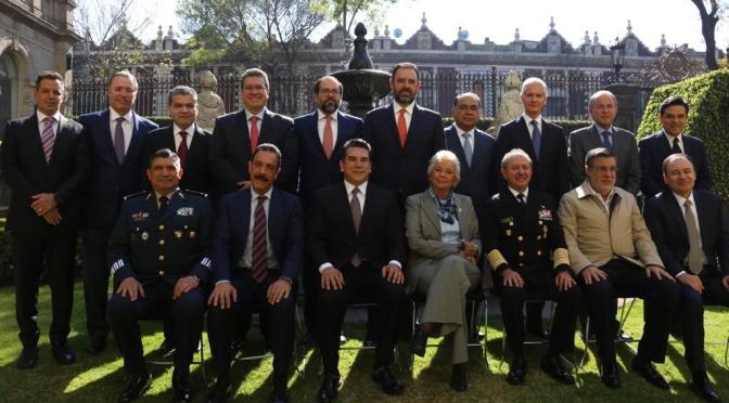 Dialogan sobre Guardia Nacional el gobernador Alejandro Moreno Cárdenas y sus homólogos con Gabinete de Seguridad Federal