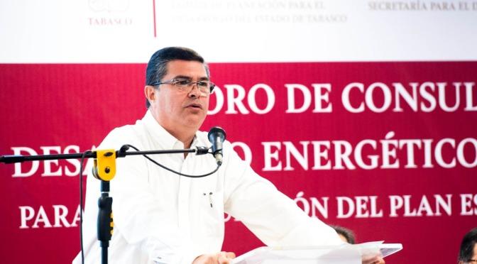 Orden en el sector energético, prioridad del gobernador Adán Augusto