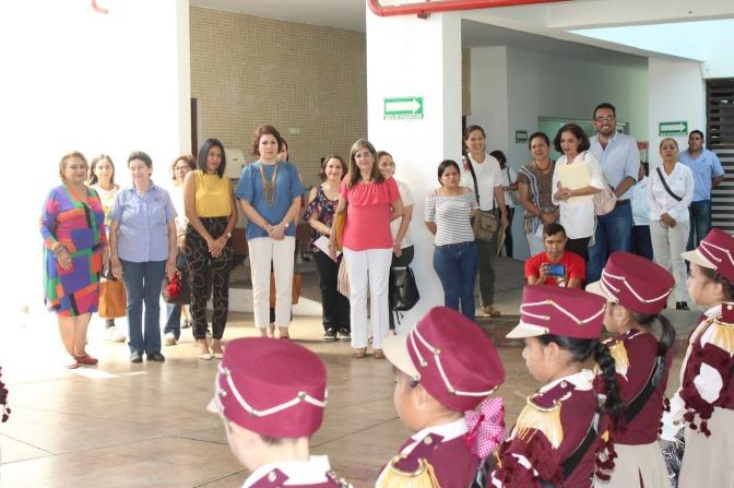 Visita presidenta del Sistema DIF Tabasco Cendis Julieta Campos y José Ma. Pino Suárez