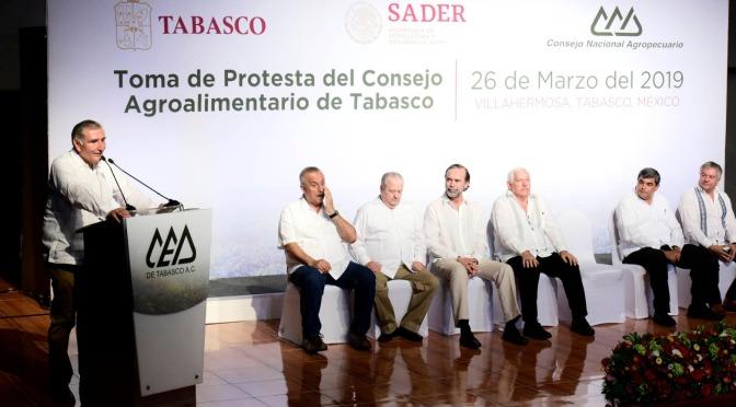 Tabasco será potencia agro industrial, compromete Adán Augusto