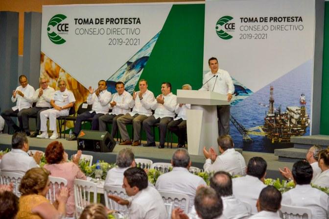 Pide el gobernador Alejandro Moreno a sector empresarial de Campeche trabajar en equipo para seguir fortaleciendo la economía